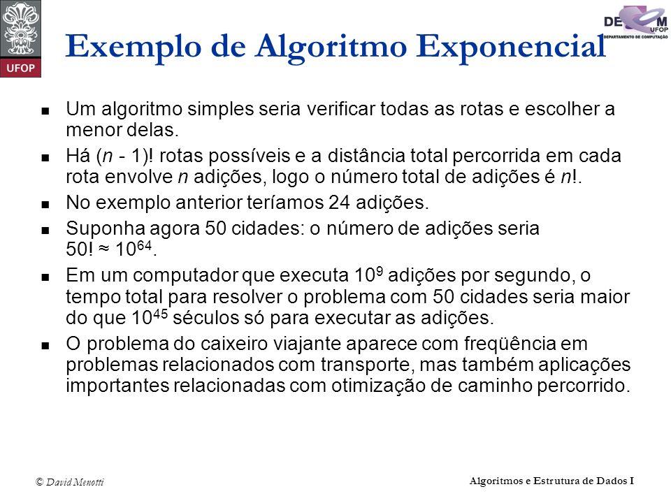 Exemplo de Algoritmo Exponencial