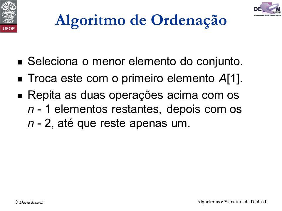 Algoritmo de Ordenação
