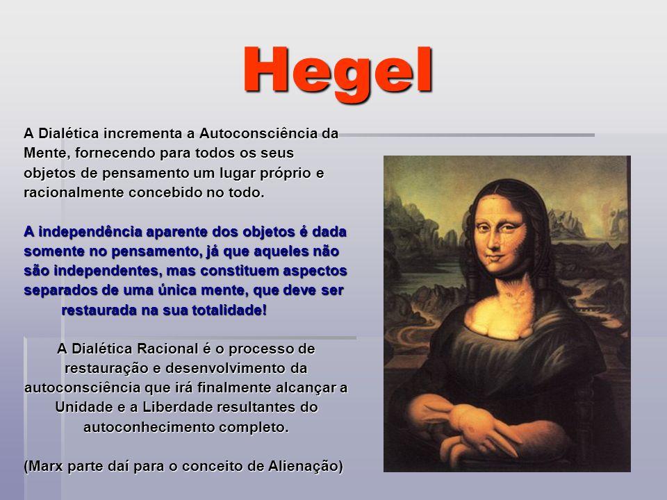 Hegel A Dialética incrementa a Autoconsciência da