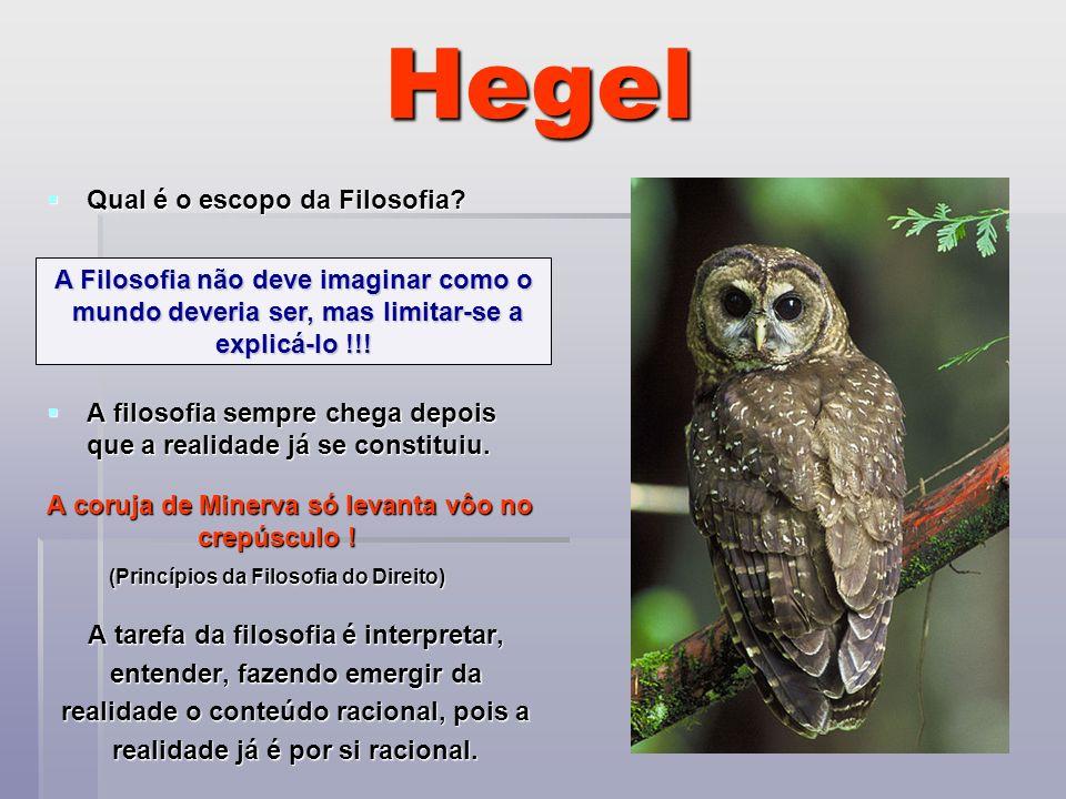 Hegel Qual é o escopo da Filosofia
