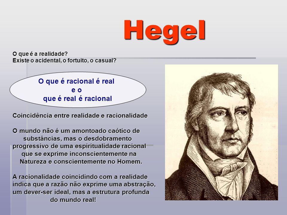 Hegel O que é racional é real e o que é real é racional