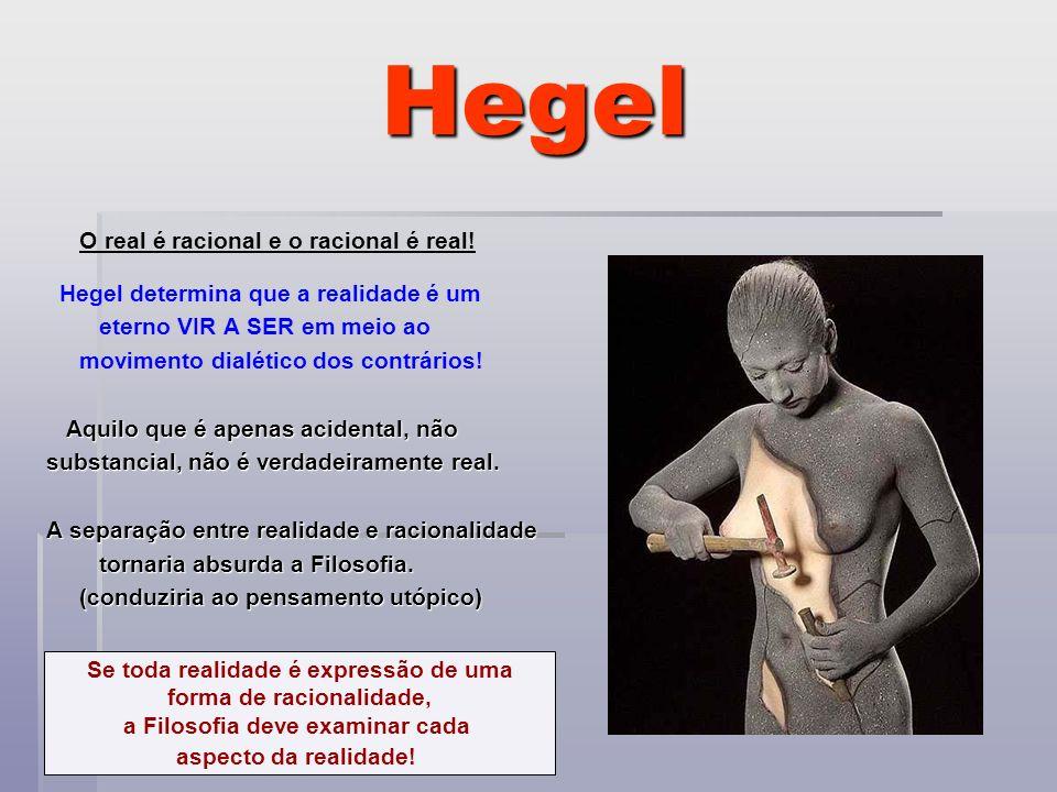 Hegel O real é racional e o racional é real!