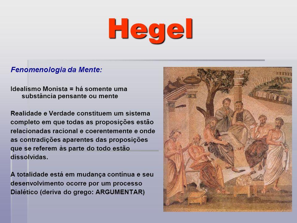 Hegel Fenomenologia da Mente: