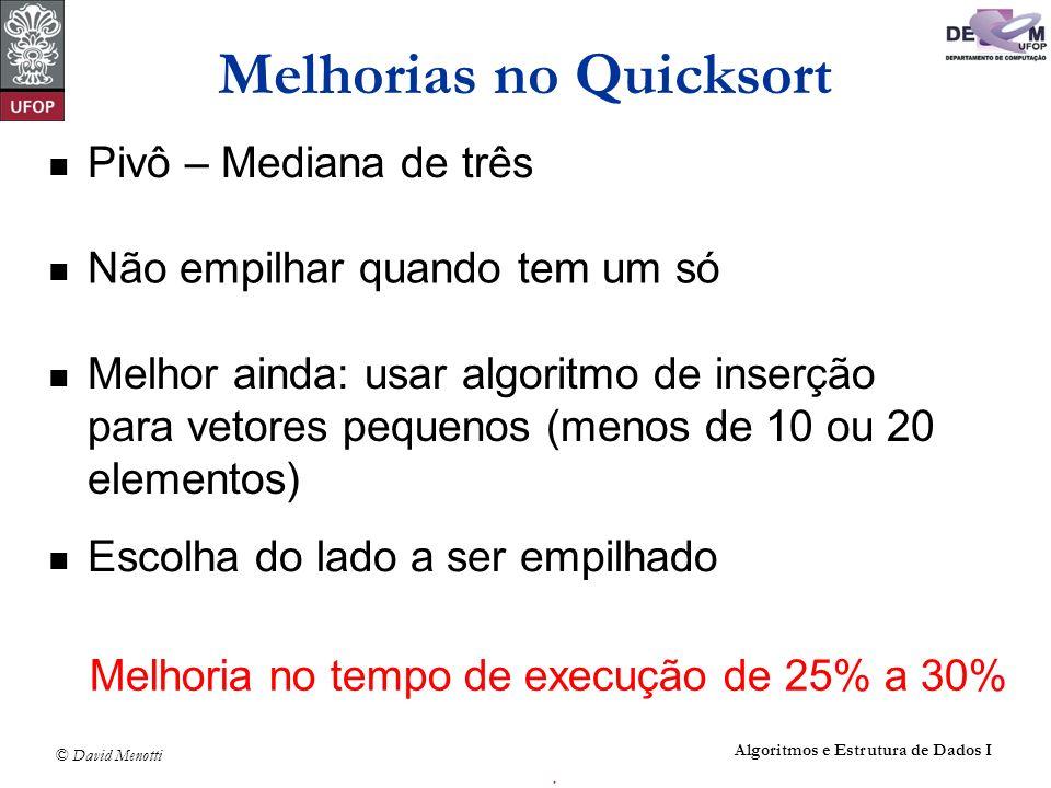 Melhorias no Quicksort