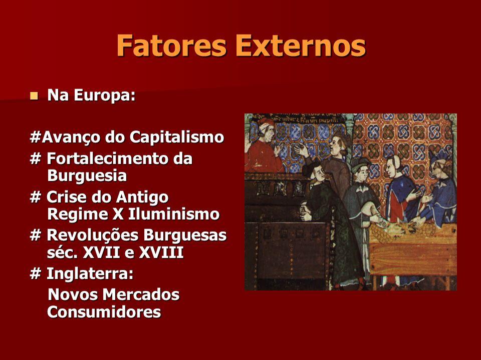 Fatores Externos Na Europa: #Avanço do Capitalismo