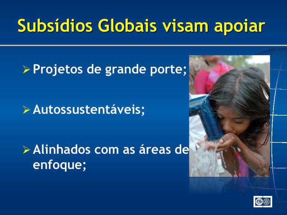 Subsídios Globais visam apoiar