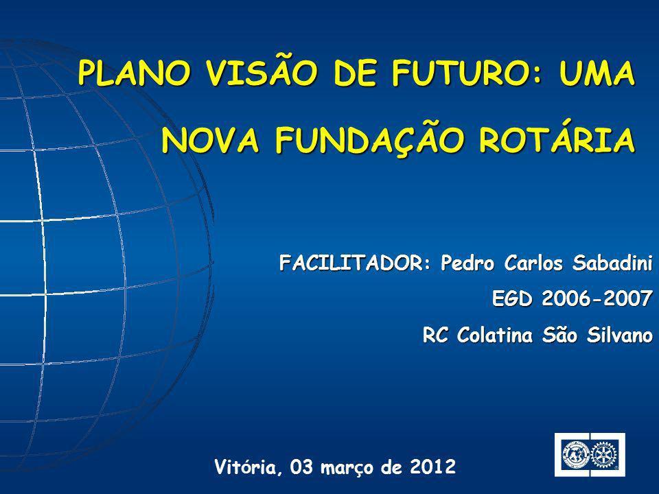 PLANO VISÃO DE FUTURO: UMA NOVA FUNDAÇÃO ROTÁRIA