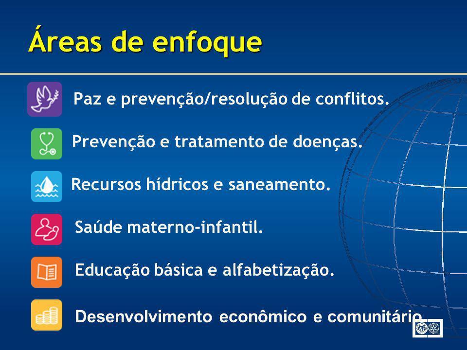 Áreas de enfoque Paz e prevenção/resolução de conflitos.