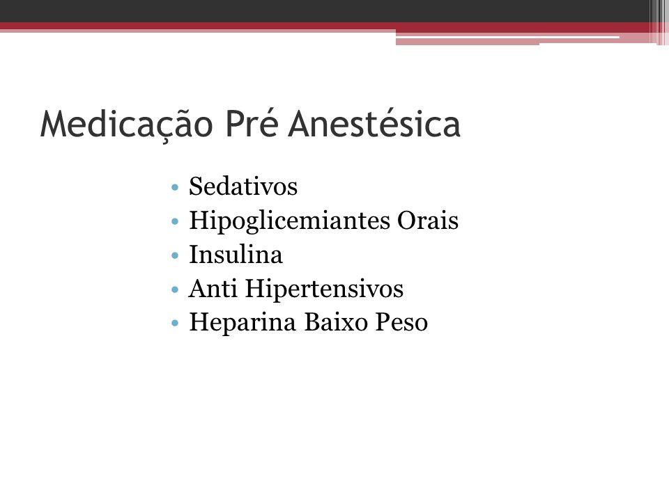 Medicação Pré Anestésica