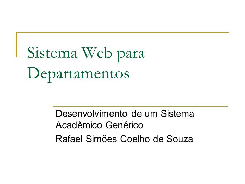 Sistema Web para Departamentos