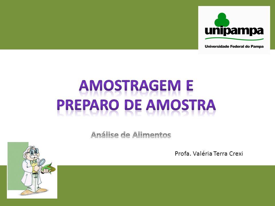 AMOSTRAGEM E PREPARO DE AMOSTRA