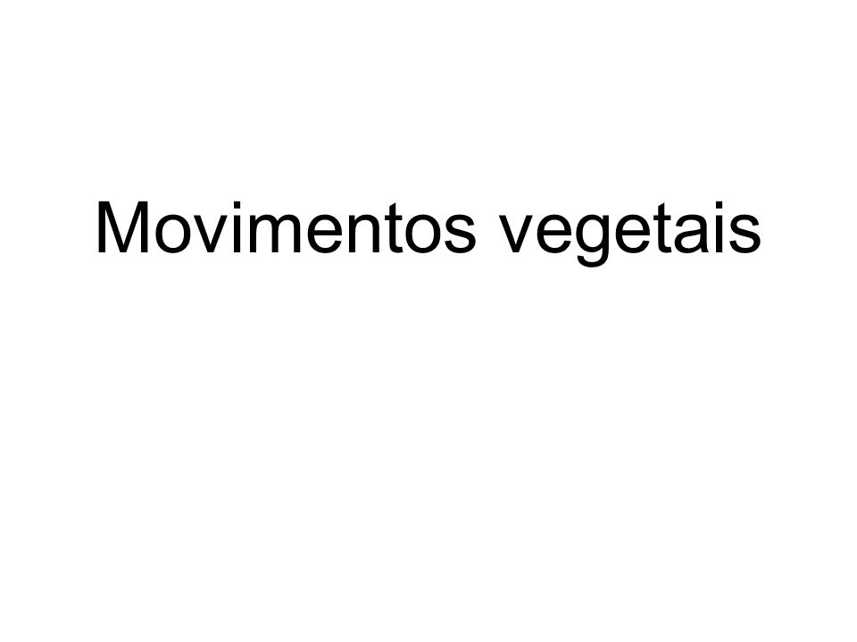 Movimentos vegetais