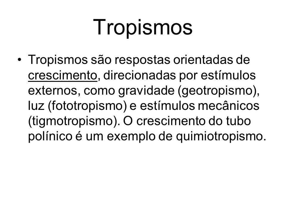Tropismos