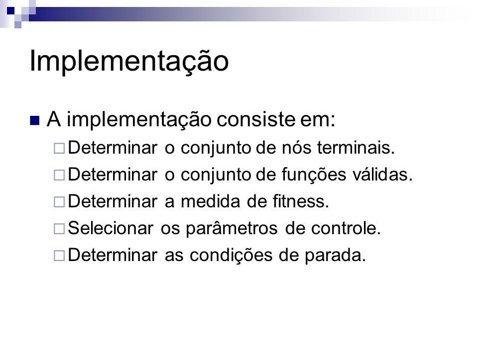 Implementação A implementação consiste em: