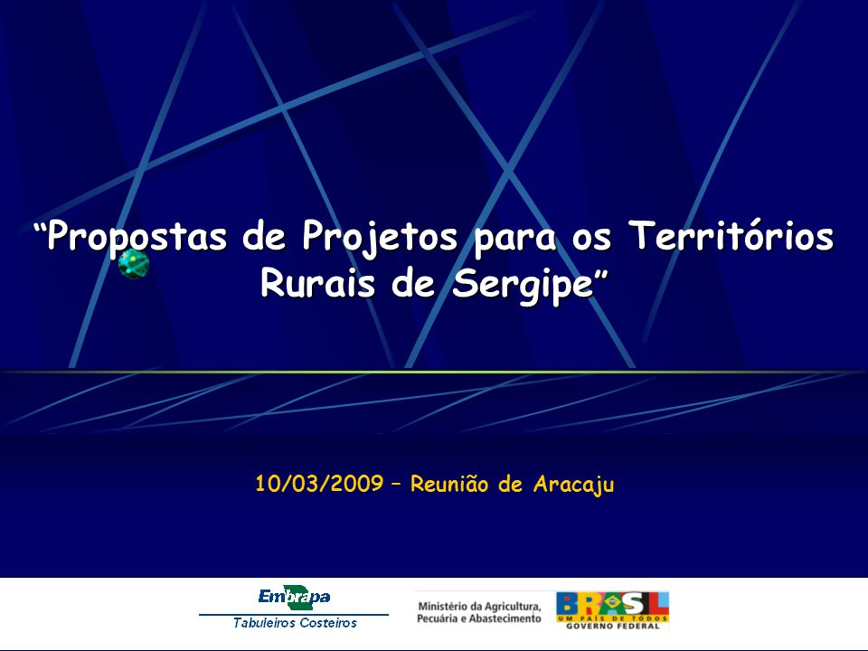 Propostas de Projetos para os Territórios Rurais de Sergipe