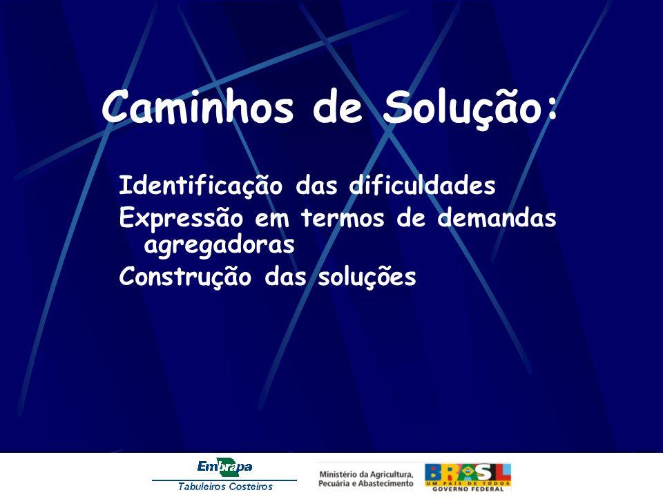 Caminhos de Solução: Identificação das dificuldades