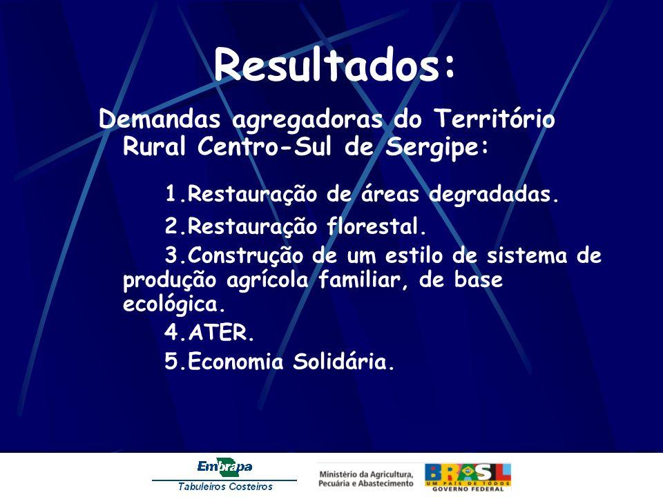 Resultados: 1.Restauração de áreas degradadas.