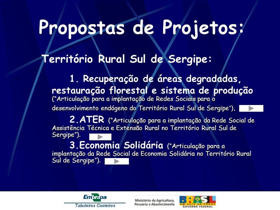 Propostas de Projetos: