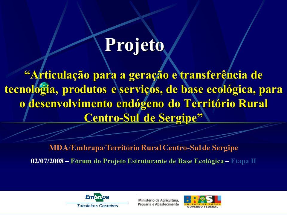 MDA/Embrapa/Território Rural Centro-Sul de Sergipe