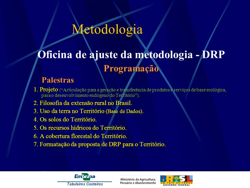 Oficina de ajuste da metodologia - DRP