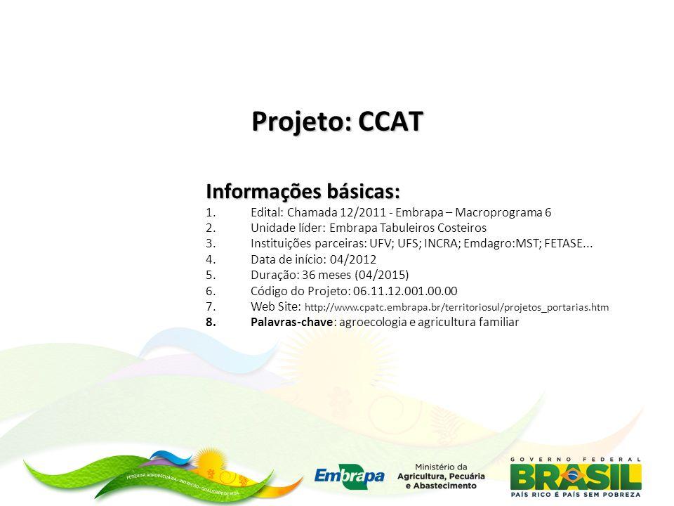 Projeto: CCAT Informações básicas: