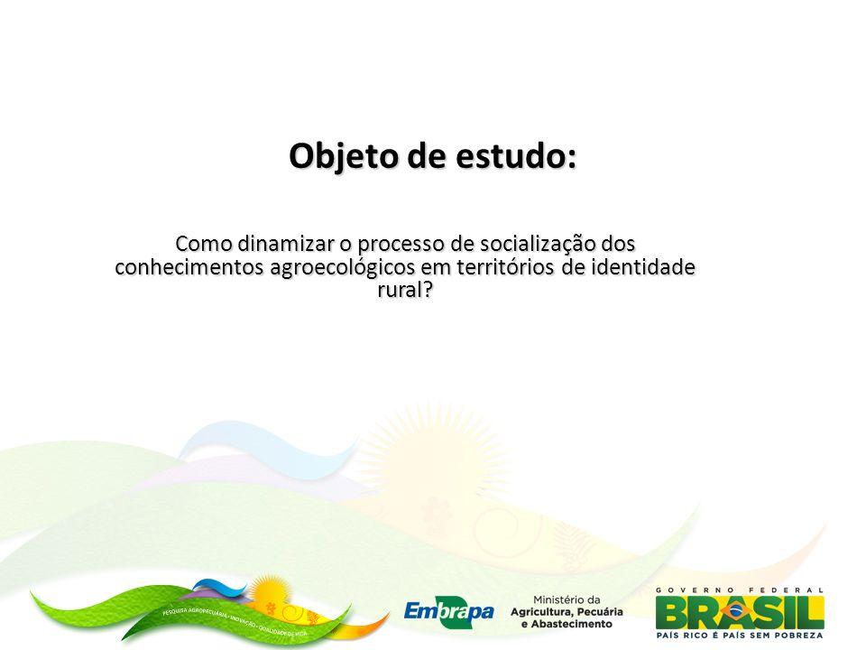 Objeto de estudo: Como dinamizar o processo de socialização dos conhecimentos agroecológicos em territórios de identidade rural