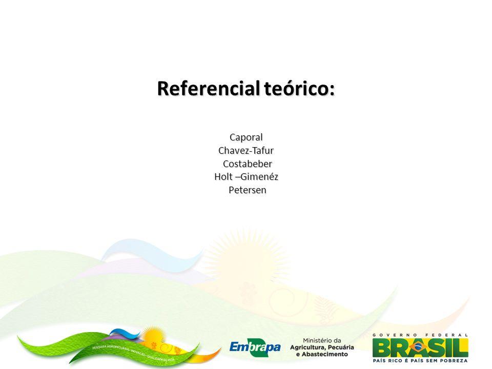 Referencial teórico: Caporal Chavez-Tafur Costabeber Holt –Gimenéz