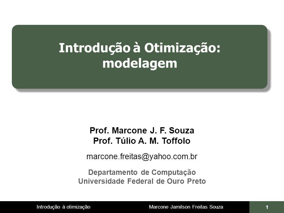 Introdução à Otimização: modelagem