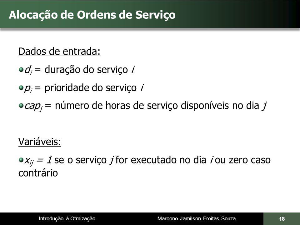Alocação de Ordens de Serviço