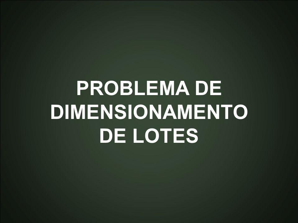PROBLEMA DE DIMENSIONAMENTO DE LOTES