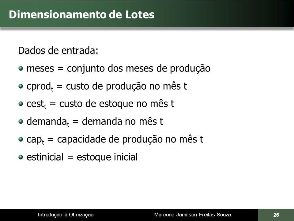 Dimensionamento de Lotes