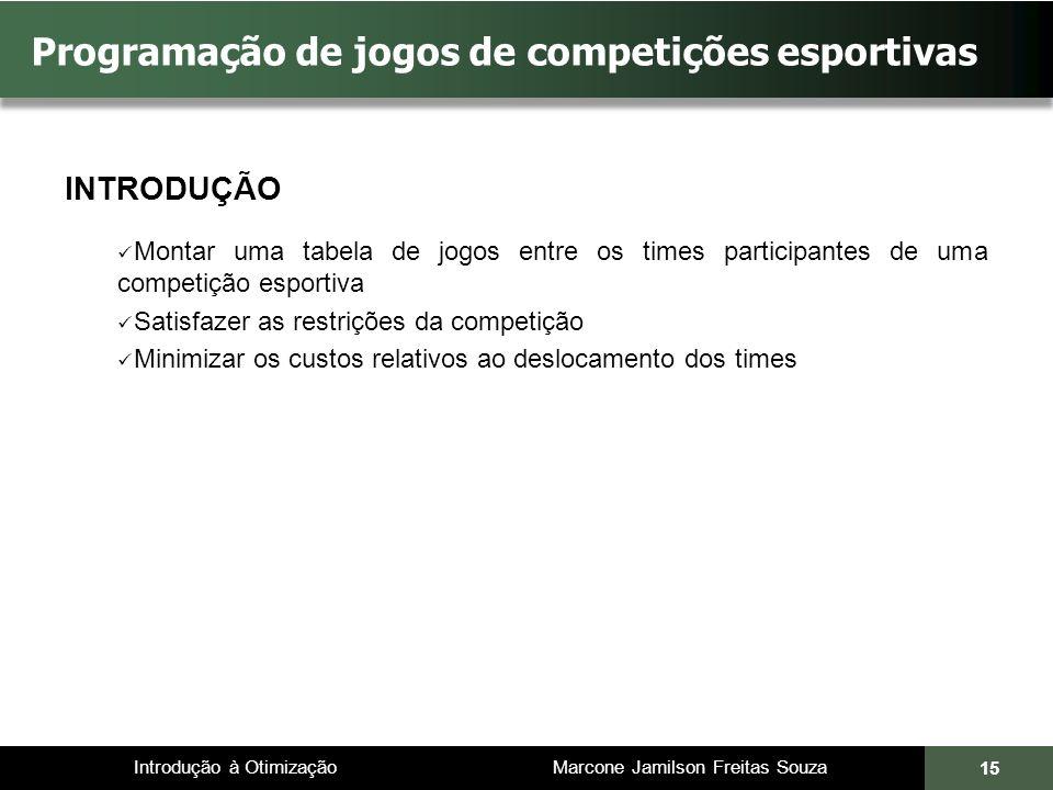 Programação de jogos de competições esportivas