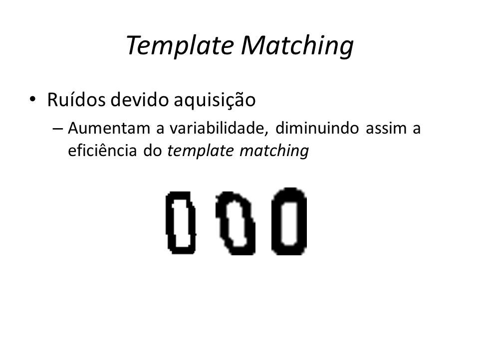 Template Matching Ruídos devido aquisição