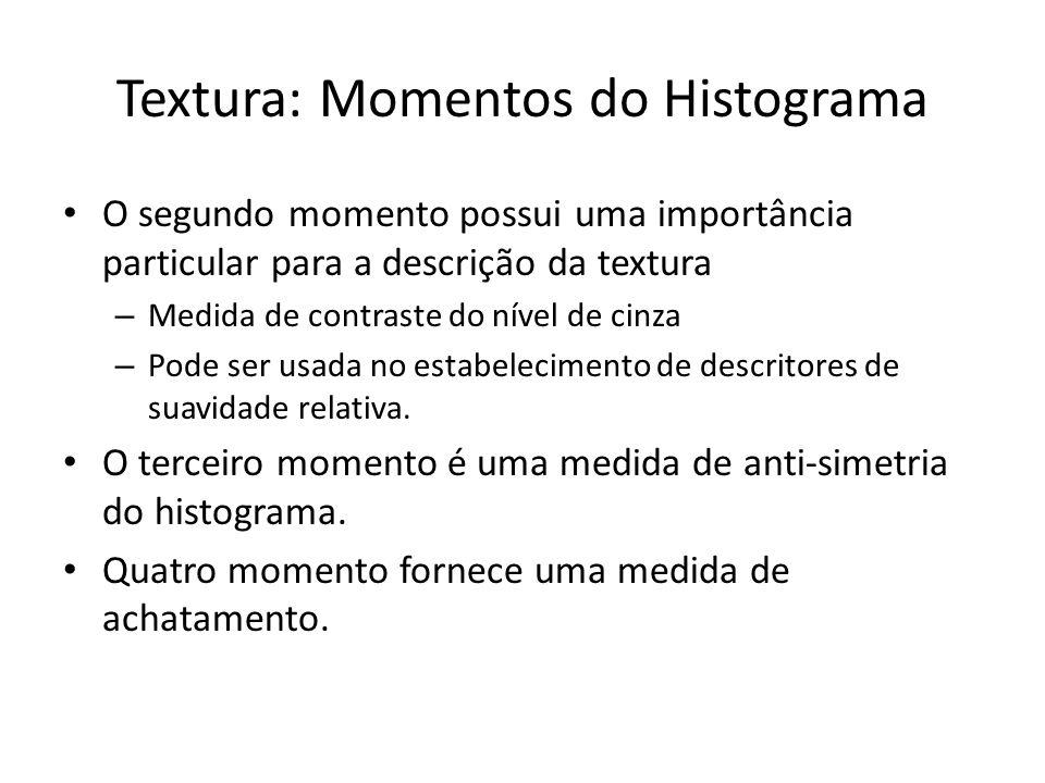 Textura: Momentos do Histograma