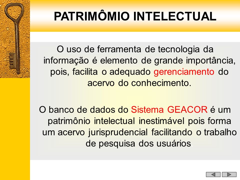 PATRIMÔMIO INTELECTUAL