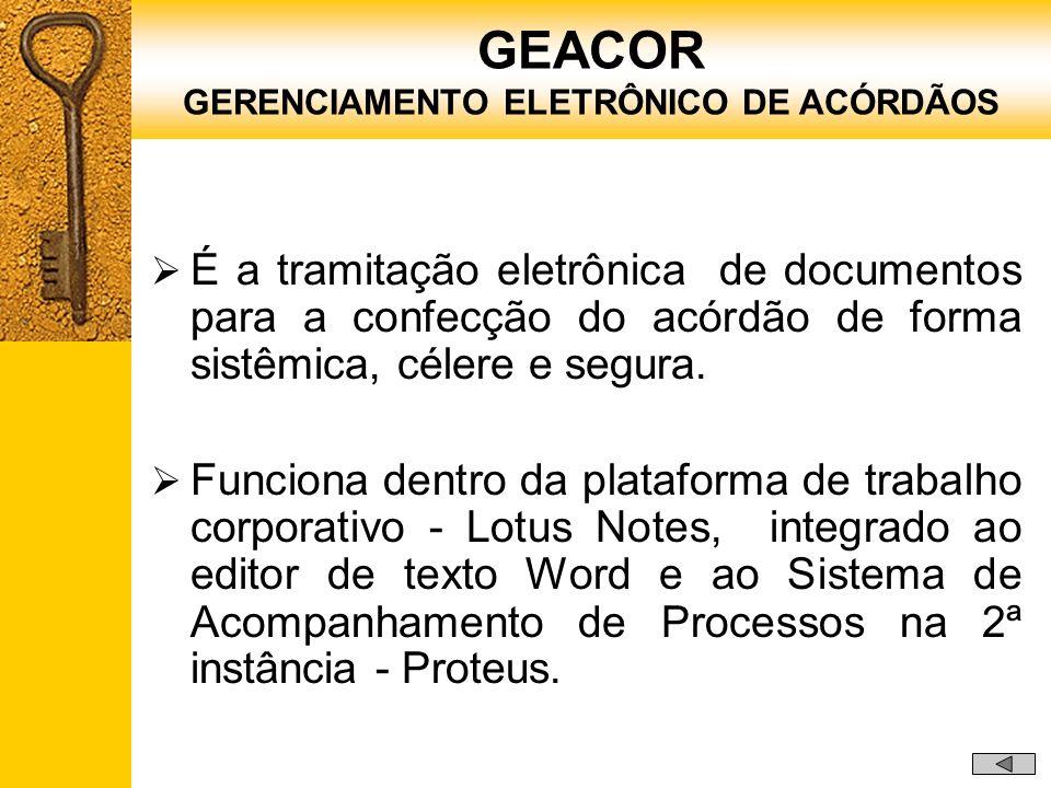 GERENCIAMENTO ELETRÔNICO DE ACÓRDÃOS