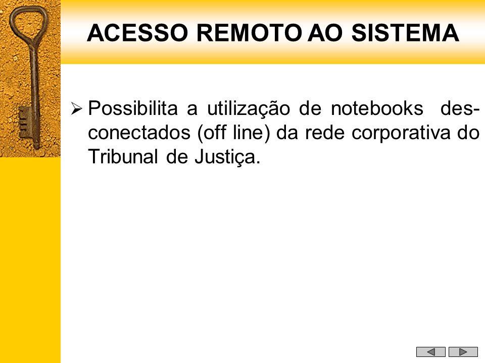 ACESSO REMOTO AO SISTEMA