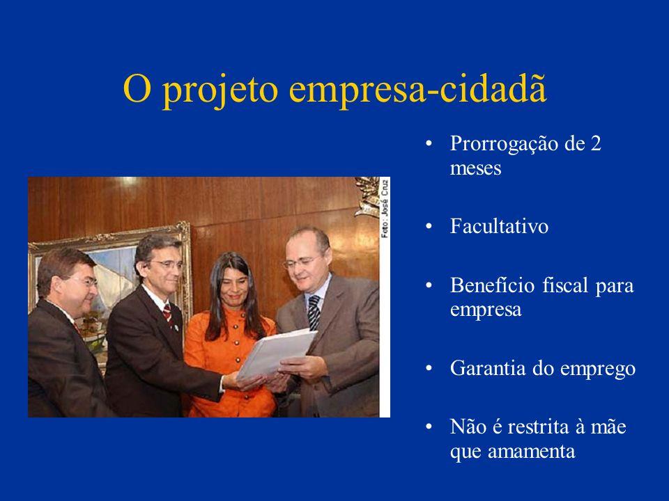 O projeto empresa-cidadã