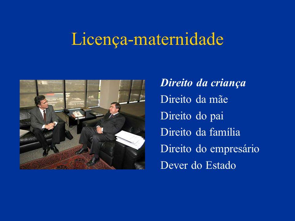 Licença-maternidade Direito da criança Direito da mãe Direito do pai