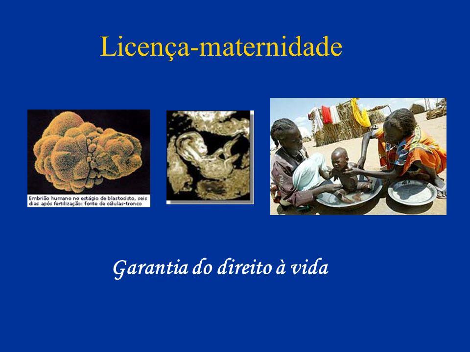 Licença-maternidade Garantia do direito à vida