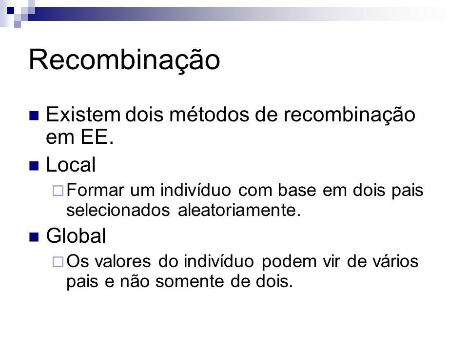 Recombinação Existem dois métodos de recombinação em EE. Local Global