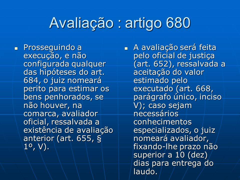 Avaliação : artigo 680