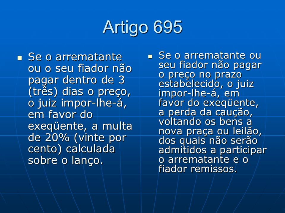 Artigo 695