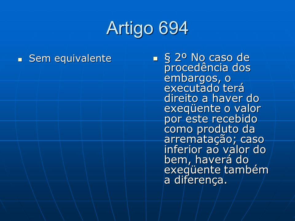 Artigo 694 Sem equivalente.