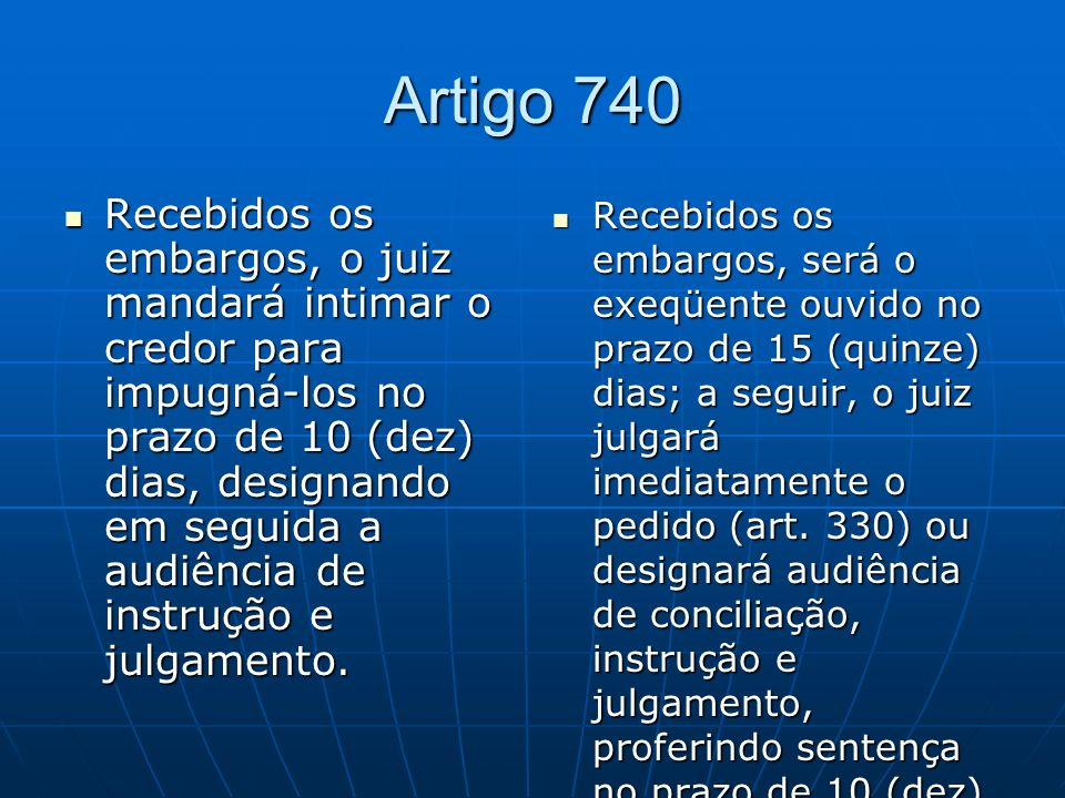Artigo 740