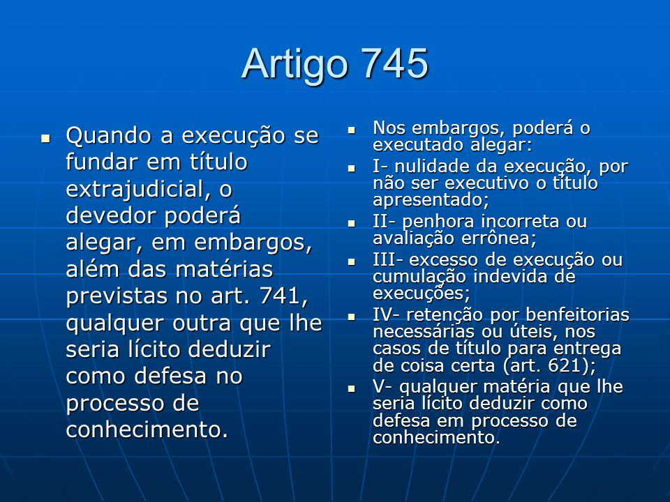Artigo 745