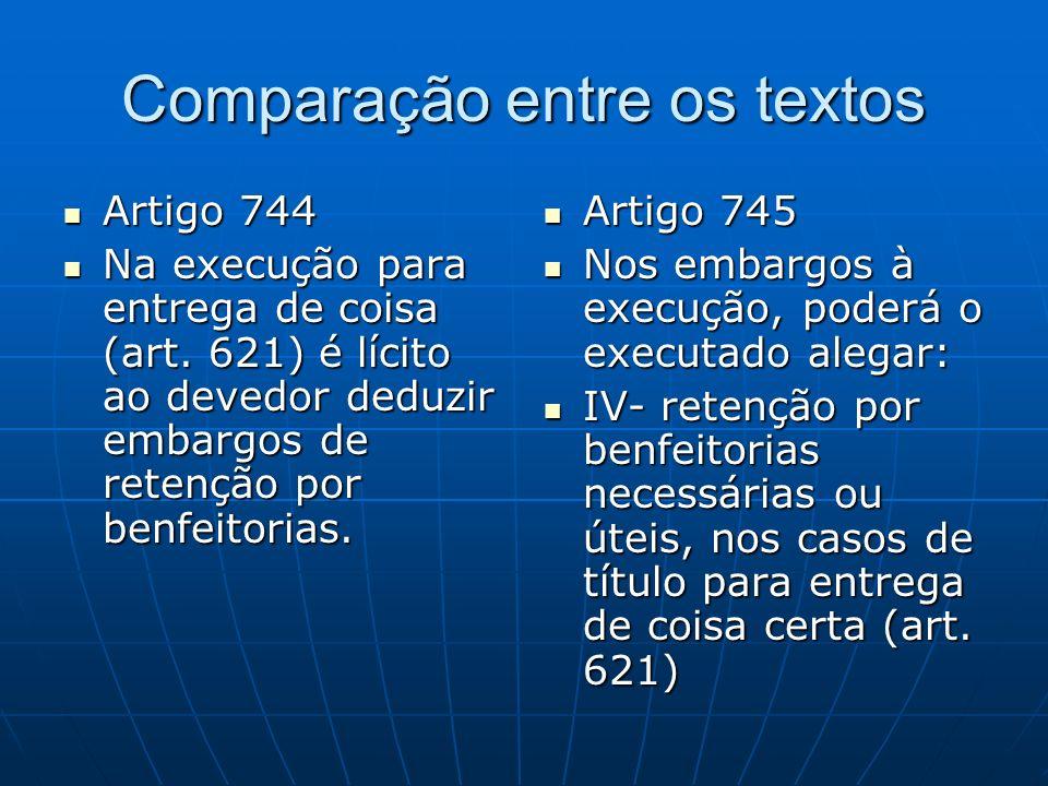 Comparação entre os textos