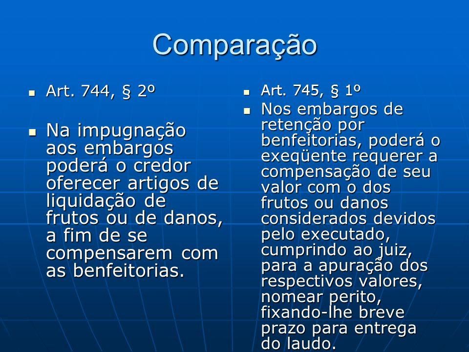 Comparação Art. 744, § 2º.