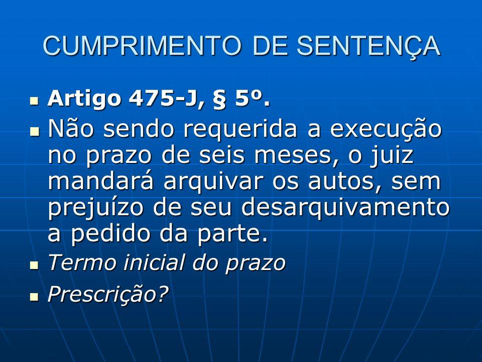 CUMPRIMENTO DE SENTENÇA