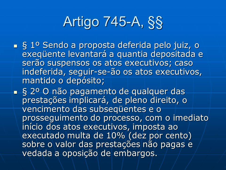 Artigo 745-A, §§